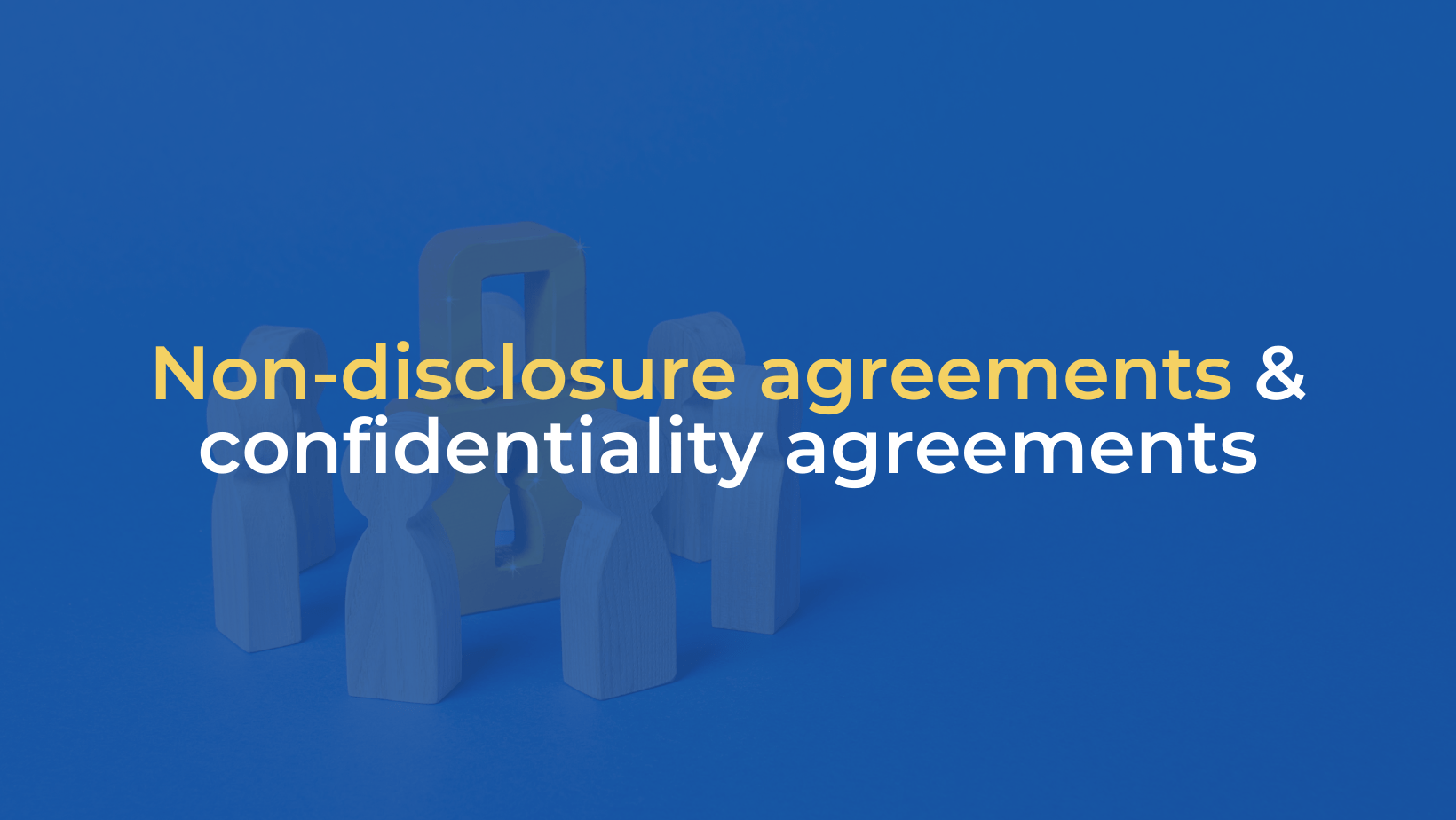 Non disclosure agreement and confidentiality agreements